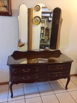 Louis XV Triple Mirror Vanity Dresser in Ramstein, Germany