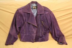 Ladies Purple LEATHER Jacket in Cherry Point, North Carolina