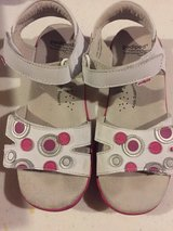 white leather Pediped girls sandals sz1 in Morris, Illinois