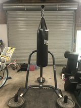 Heavy boxing bag and stand in Cleveland, Texas
