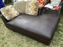 Brown chaise lounge in Fort Riley, Kansas