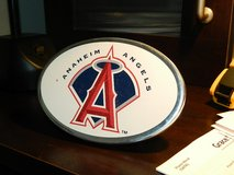 "Original ""Anaheim Angels"" trailer hitch cover in Camp Pendleton, California"