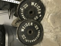 Various Weider Steel weights 2 44 lb, 2 33 lb, 2 11 lb & 3 5.5 lb in Ramstein, Germany
