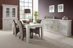 Harvest Dining Set -China Cabinet +Table + 4 Chairs including Delivery in Hohenfels, Germany