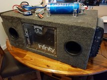 """Subwoofer Package Dual 10"""" with Amp and Capacitor in Lakenheath, UK"""