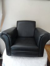 Child Black leather chair/rocker in Lakenheath, UK