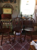 3 very nice wood bar stools in Cleveland, Texas
