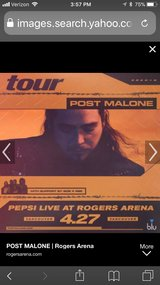 Post Malone 2 tickets VIP section (GA pit) in Naperville, Illinois