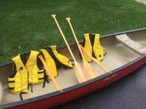 Old Town Canoe Paddles and life vests in Glendale Heights, Illinois
