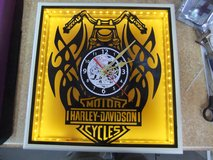 Harley  Handcrafted LED Silhouette LP Clocks - Mancave Clock in Cherry Point, North Carolina