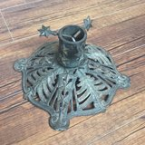 Vintage Cast Iron German Christmas Tree Stand in Okinawa, Japan