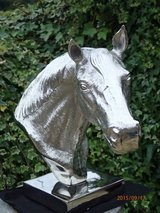 Horse Head Bust Silver Coloured Aluminium - Ideal Display Ornament or Trophy in Lakenheath, UK