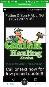 Quick Hauling Services in Vacaville, California