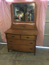 Light colored oak vintage dresser in Fort Campbell, Kentucky