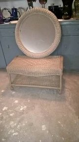 WICKER TABLE AND MIRROR in Keesler AFB, Mississippi