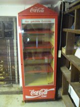 """Coca Cola """"Kuhl Schrank"""" Display Case in Ramstein, Germany"""