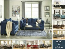 Microfiber Sofa and Love. 9 Color Options! in Cherry Point, North Carolina