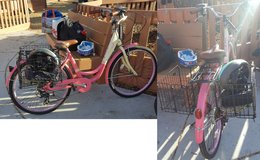 Pink Bike with foldable baskets in Travis AFB, California