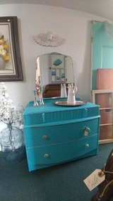 Turquoise Vanity Desk Dresser in Alamogordo, New Mexico