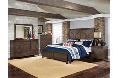 "NEW! UPSCALE QUALITY SOLID WOOD ""BARNYARD"" QUEEN BED SET! in Camp Pendleton, California"