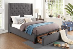 # NEW! DESIGNER TUFTED LINEN QUEEN PLATFORM BEDFRAME WITH STORAGE! in Camp Pendleton, California