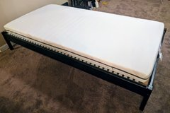 Black Twin Frame with Foam Mattress in St. Charles, Illinois
