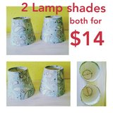 2 Lamp Shades paisley teal turquoise in Baytown, Texas