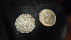 Silver Dollars from the mid-1800's --- 1843, 1846, 1947, 1871, 1876 in Okinawa, Japan