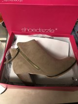 Taupe booties in St. Charles, Illinois