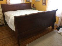 King size bed. Solid cherry, sleigh bed in Hopkinsville, Kentucky