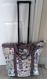 VERY LARGE ROLLING OVERNIGHT TOTE, BAG,SUITCASE, LIKE NEW in Lakenheath, UK