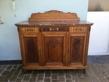 wonderful antique solid wood buffet with carved roses from France in Ramstein, Germany