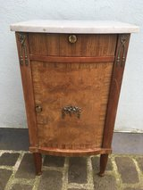 antique side table nightstand marple top from France in Ramstein, Germany