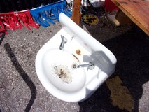 Vintage Porcelain Sink in Fort Riley, Kansas