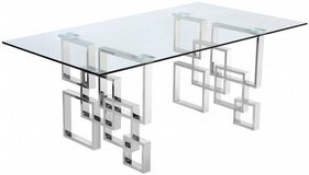 Meridian Furniture Inc Alexis Chrome Dining Table - BRAND NEW IN BOXES in Kingwood, Texas