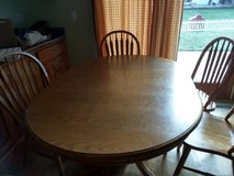 Oak table and 6 chairs in St. Charles, Illinois