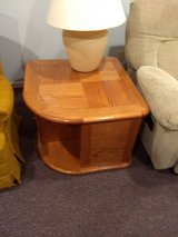 Oak side table in St. Charles, Illinois