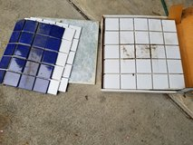 Box Mosaic Tile - Plus 2 extra white sheets and 1 extra blue sheet in Macon, Georgia