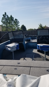 1989 stratosphere Bass boat with 1500 Evinrude motor & trolling motor in Lawton, Oklahoma