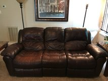 dual reclining leather couch in Kingwood, Texas
