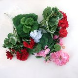 "ARTIFICIAL ""Silk"" FLOWERS: 4 Geranium Bushes, Unused w/tags in St. Charles, Illinois"