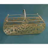 Long Gold-tone Decorative METAL BASKET Rectangular in St. Charles, Illinois