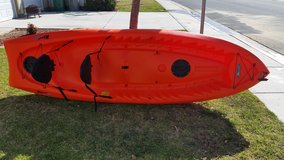 "Lifetime Kokanee 10'6"" Tandem Sit On Top Kayak In Orange with 2 Backrests in Camp Pendleton, California"