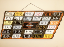 TENNESSEE MOTORCYCLE LICENSE PLATE TAGS ARTISAN METAL WORK FOR INDUSTRIAL DECOR in Tinley Park, Illinois
