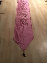 Decorative bed or table runner - embroidered with beads in Stuttgart, GE