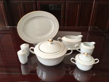 """Noritake"" China Serving Expansion Set ""White Scapes"" Lockleigh Pattern in Stuttgart, GE"