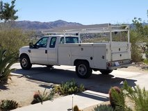 2009 F350 EXTRA CAB WITH UTILITY BED AND PIPE RACK in Yucca Valley, California