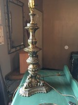 "Brass lamp 33"" tall in Conroe, Texas"