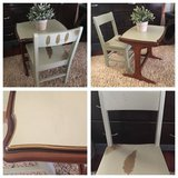 Cute hand-painted toddler table, chair set in Chicago, Illinois