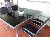 Glass Table and 4 Chairs in Ramstein, Germany